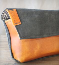 Canvas & Leather Clutch Bag by R. Riveter on Scoutmob Shoppe.