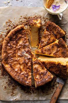 Simple Lemon Sugar Burnt Basque Cheesecake | halfbakedharvest.com Cupcakes, Cupcake Cakes, Lemon Desserts, Delicious Desserts, Biscotti, Mousse, Dessert Crepes, Lemon Layer Cakes, Lemon Sugar