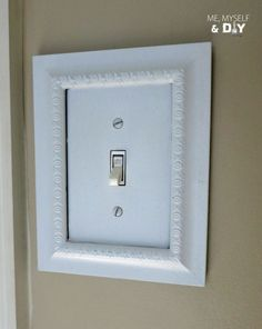 Easy switch plate update by Me, Myself & DIY