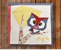 Peeping Owl 12 x 12 Quilt Block Pattern by Artisania on Etsy, $7.00