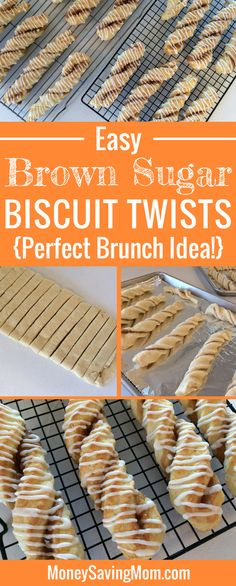 These Brown Sugar Biscuit Twists are SO delicious, easy to make, and a total crowd pleaser! Perfect to take to brunch -- especially on Christmas morning!