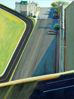Wayne Thiebaud, Down Penn Street on ArtStack #wayne-thiebaud #art