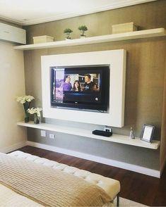 Simples e lindo inspiração pro meu quarto #quarto #room #paineldetv…