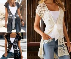 Crochet Long Vest Free Pattern