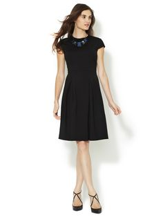 Cap Sleeve Fit & Flare Dress by Ava & Aiden