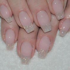 Silver sparkle nails