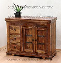 Large Indian Rosewood Sheesham Sideboard 3 Drawers 2 Doors Jali Range Ebay Use
