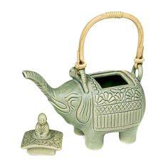 Novica Buddha & Elephant Teapot - omg!!!