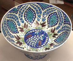 I never had the pleasure of working on Iznik pottery. The decoration on these ve. I never had the pleasure of working on Iznik pottery. The decoration on these vessels is the greatest mankind has ev Turkish Decor, Turkish Art, Turkish Tiles, Glazes For Pottery, Ceramic Pottery, Pottery Art, Tile Art, Porcelain Ceramics, Islamic Art