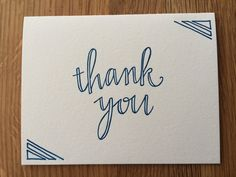 Thank You Letterpress Card (set of 5)