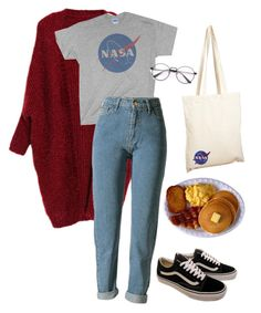 """amarican day"" by julietteisinthe80s on Polyvore featuring Vans and Borders&Frontiers"