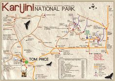 karijini national park map - Google Search