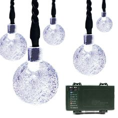 Lalapao Globe Battery Operated Timer String Lights 30LED Bubble Crystal Ball Fairy Christmas Lighting Decor For Outdoor Indoor Garden Patio Wedding Decorations (White) *** Find out more details by clicking the image : Wedding Decor