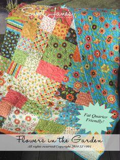 Flowers in the Garden PDF Quilt Pattern | Lola Pink Fabrics