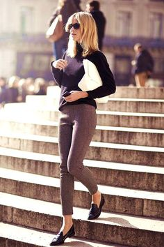 27 Casual Outfits With Flats for Every Occasion #flats #shoes #outfits #balerinas #office #work