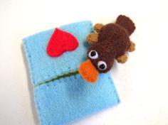 Australian Platypus Felt Ornament by RazzleDazzlebySally on Etsy
