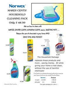 Norwex saves you money, time and chemicals in the home. Check out what one set can do for you!