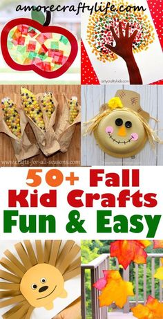 Fall Kid Crafts - Easy Fun Autumn Crafts - A More Crafty Life . Fall Kid Crafts - Easy Fun Autumn Crafts - A More Crafty Life . Diy Fall Crafts diy fall crafts for kids Fall Arts And Crafts, Easy Fall Crafts, Thanksgiving Crafts, Fun Crafts, Holiday Crafts, Simple Crafts, Cork Crafts, Fall Crafts For Toddlers, Autumn Activities For Kids