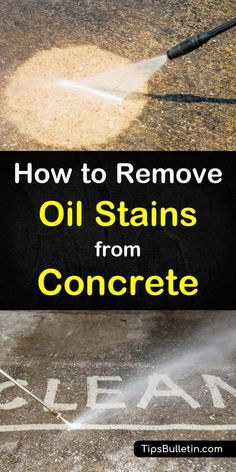 Do unsightly oil stains on your concrete have you down? Learn how to remove oil stains from concrete with these simple techniques. Deep Cleaning Tips, House Cleaning Tips, Cleaning Solutions, Spring Cleaning, Cleaning Hacks, Garage Solutions, Cleaning Products, Garage Boden, Remove Oil Stains