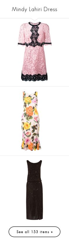 """""""Mindy Lahiri Dress"""" by taught-to-fly19 on Polyvore featuring dresses, pink floral dress, short-sleeve lace dresses, flower print dresses, short sleeve lace dress, pink floral print dress, fishtail dress, floral day dress, white floral print dress e colorful dresses"""