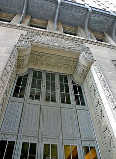 The ornate Kansas City Power and Light Building's entryway in Kansas City, Mo