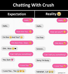 Funny Text About Crush vs. Expectation and Reality...