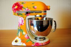 if you have to leave appliances out on the counter instead of in their garage, at least decorate them to make them unique. Mixer Floral