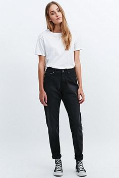 Cheap Monday Donna Jeans in Washed Black - Urban Outfitters mom jeans