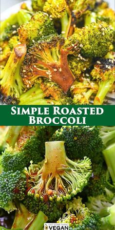 Brocolli Side Dishes, Vegetable Dishes, Vegetable Recipes, Tasty Vegetarian Recipes, Tasty Recipe, Easy Healthy Recipes, Roasted Brocolli, Gout Recipes, Healthy Food Choices