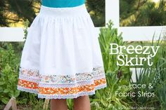 05 2011  Breezy Skirt, detailed with Lace and Fabric Strips