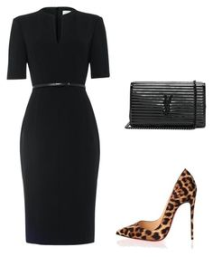 featuring moda, Damsel in a Dress, Christian Louboutin e Yves Saint Laurent Business Casual Outfits, Classy Outfits, Chic Outfits, Business Clothes, Trend Fashion, Work Fashion, Fashion Beauty, Modelos Fashion, Looks Plus Size