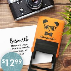 Personalized Address Stamp : Only $12.99 (reg. $44.50)  http://www.mybargainbuddy.com/personalized-address-stamp-only-12-99