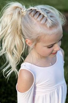 Adorable Little Girls Hairstyle Easy Braided Look