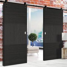 Barn Style Sliding Doors – Page 15 Internal Sliding Doors, Barn Style Sliding Doors, Sliding Door Track, Sliding Door Systems, Flush Doors, The Doors, Traditional Interior, Ceiling Height, Puertas
