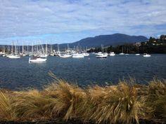 Boats in Kangaroo Bay, Bellerive, #Hobart's eastern shore. Article and photo for www.think-tasmania.com