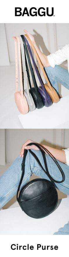 The Circle Purse. In 5 beautiful shades of our softest leather. Made in the USA.