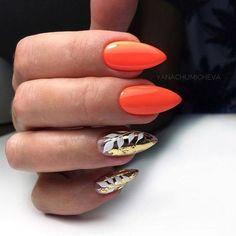 54 Tropical Nail Art Designs For Summer - nail models Cute Nails, Pretty Nails, My Nails, Orange Nail Designs, Nail Art Designs, Ongles Plus Forts, Tropical Nail Art, Vacation Nails, Beach Nails