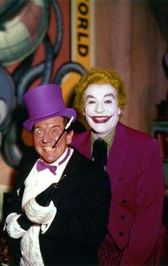 Burgess Meredith & Cesar Romero As The Penguin & The Joker, respectively