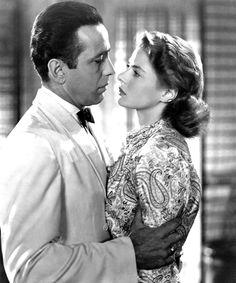 Ingrid Bergman in Casablanca, 1942 Casablanca Film, Ingrid Bergman Casablanca, Humphrey Bogart Casablanca, Old Hollywood, Hollywood Stars, Classic Hollywood, Hollywood Cinema, Hollywood Couples, Dirty Dancing