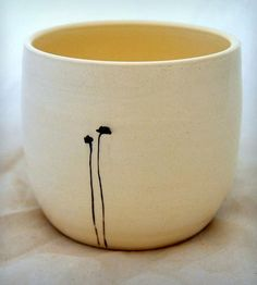 In Cotopaxi CO, gotta visit muddypotts (White Ceramic Vase with Black Poppies by muddypotts on Scoutmob Shoppe)