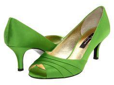 Nina Culver Apple Green Satin