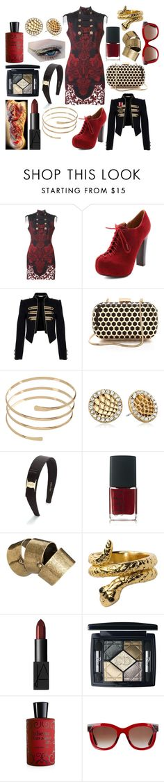 """""""Ashlyn Thomas"""" by ashlynknight ❤ liked on Polyvore featuring Versace, Charlotte Russe, Red Herring, Inge Christopher, Accessorize, Sam Edelman, Salvatore Ferragamo, NARS Cosmetics, Just Acces and Stussy"""