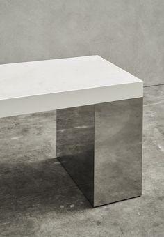 Joseph Dirand, architect based in Paris Furniture Styles, Furniture Design, Bench Furniture, Joseph Dirand, Interior Architecture, Interior Design, Metal Table Legs, Chicago Furniture, Dining Table