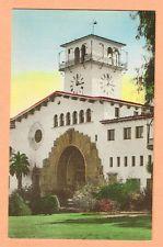 HANDCOLORED, COURT HOUSE, SANTA BARBARA, CALIFORNIA