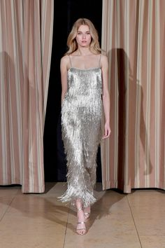 "Rachel Zoe F/W 2017 RTW: ""Flapper Goes To An Awards Show In LA"". Silver metallics are always my weakness, and this one is no different."
