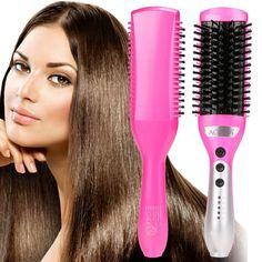 ACEVIVI 50W Electric Hair Straightener Comb Heating Detangling Hair Brush EU/ US/ UK Plug