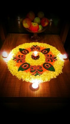 My art Rangoli Designs Flower, Rangoli Patterns, Colorful Rangoli Designs, Rangoli Ideas, Rangoli Designs Diwali, Diwali Rangoli, Flower Rangoli, Beautiful Rangoli Designs, Easy Rangoli