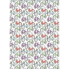 BICYCLES fine wrapping paper by PaperAndPresent
