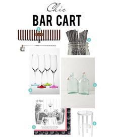 Monday's Must-Haves: Chic Bar Cart. Today on Alexandria Lifestyle.