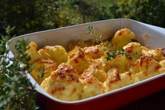 Sajtos-tejfölös karfiol - Keva Blog Ital Food, Cauliflower, Macaroni And Cheese, Mozzarella, Vegetables, Ethnic Recipes, Blog, Cauliflowers, Mac And Cheese
